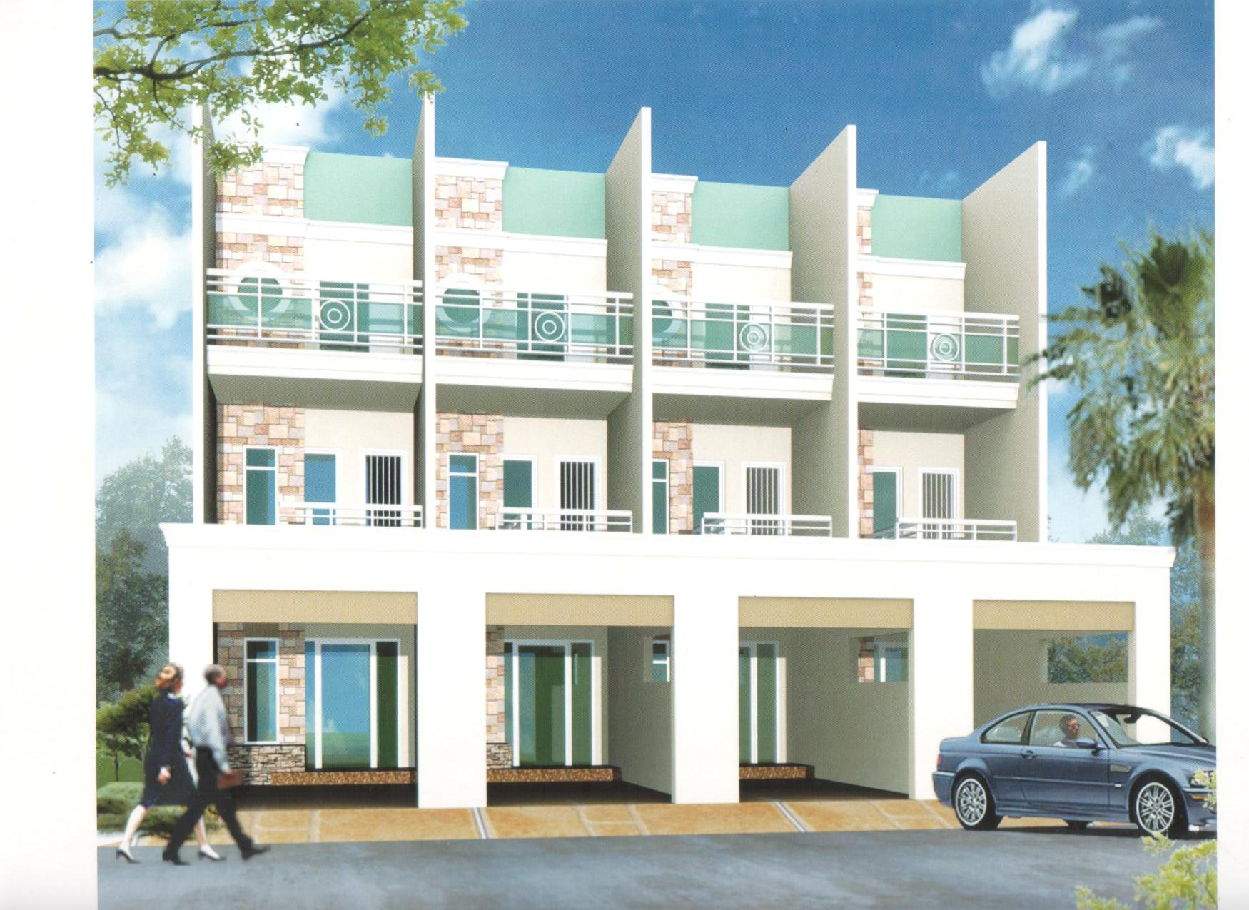 3 story apartment building design pictures to pin on for Two storey apartment design